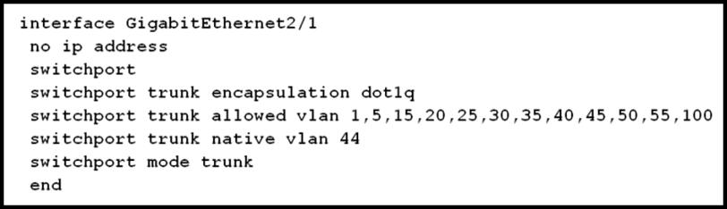 Which VLAN will traffic coming from the newly created SSID