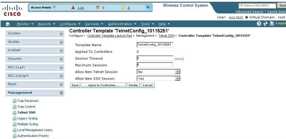 extreme ap wirelwess controller ssh