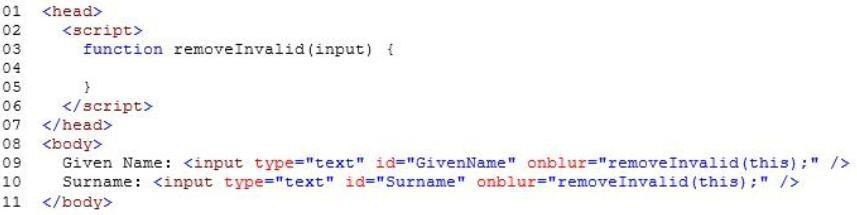 Which code segment should you insert at line 04? Answer in Here